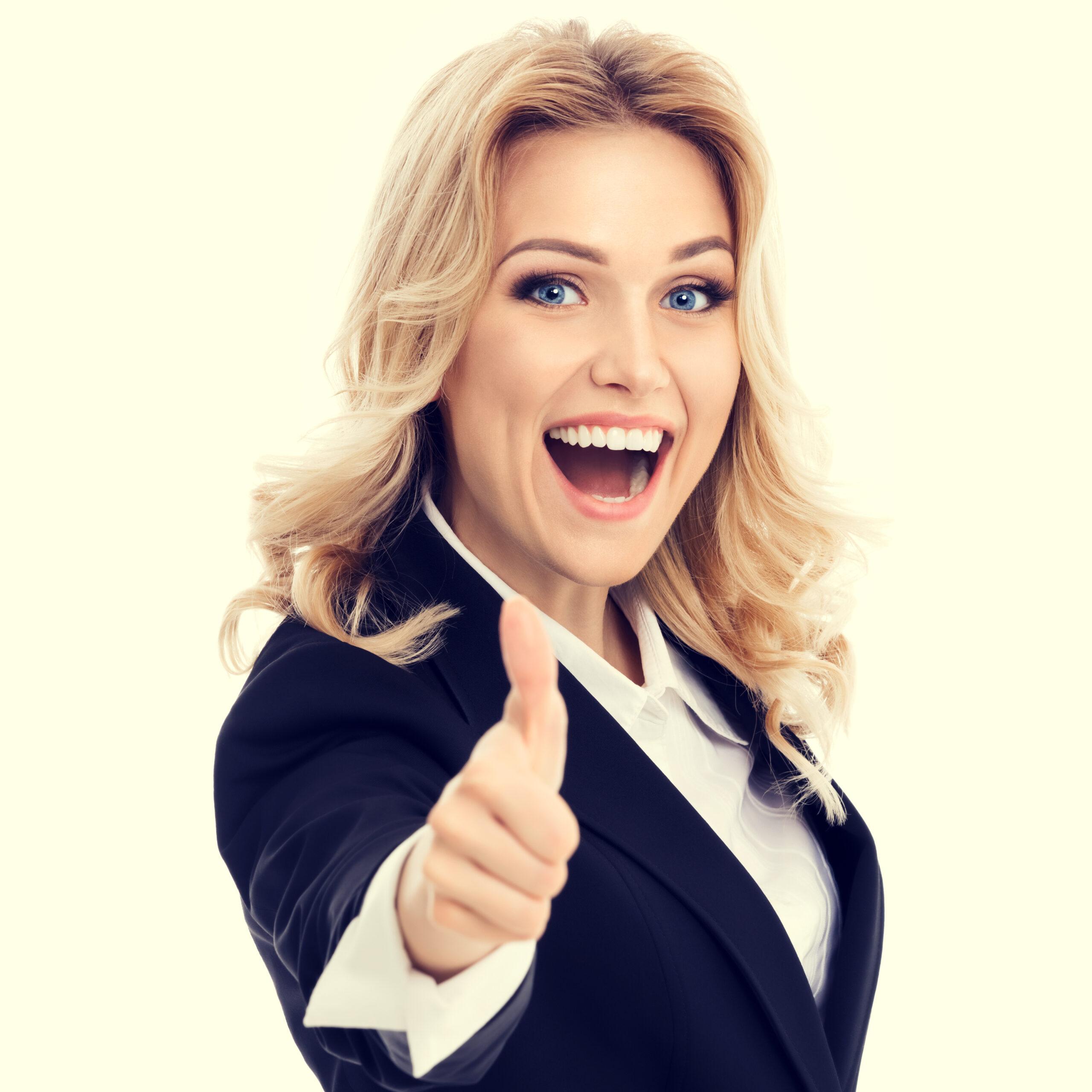 tax slayer happy business woman