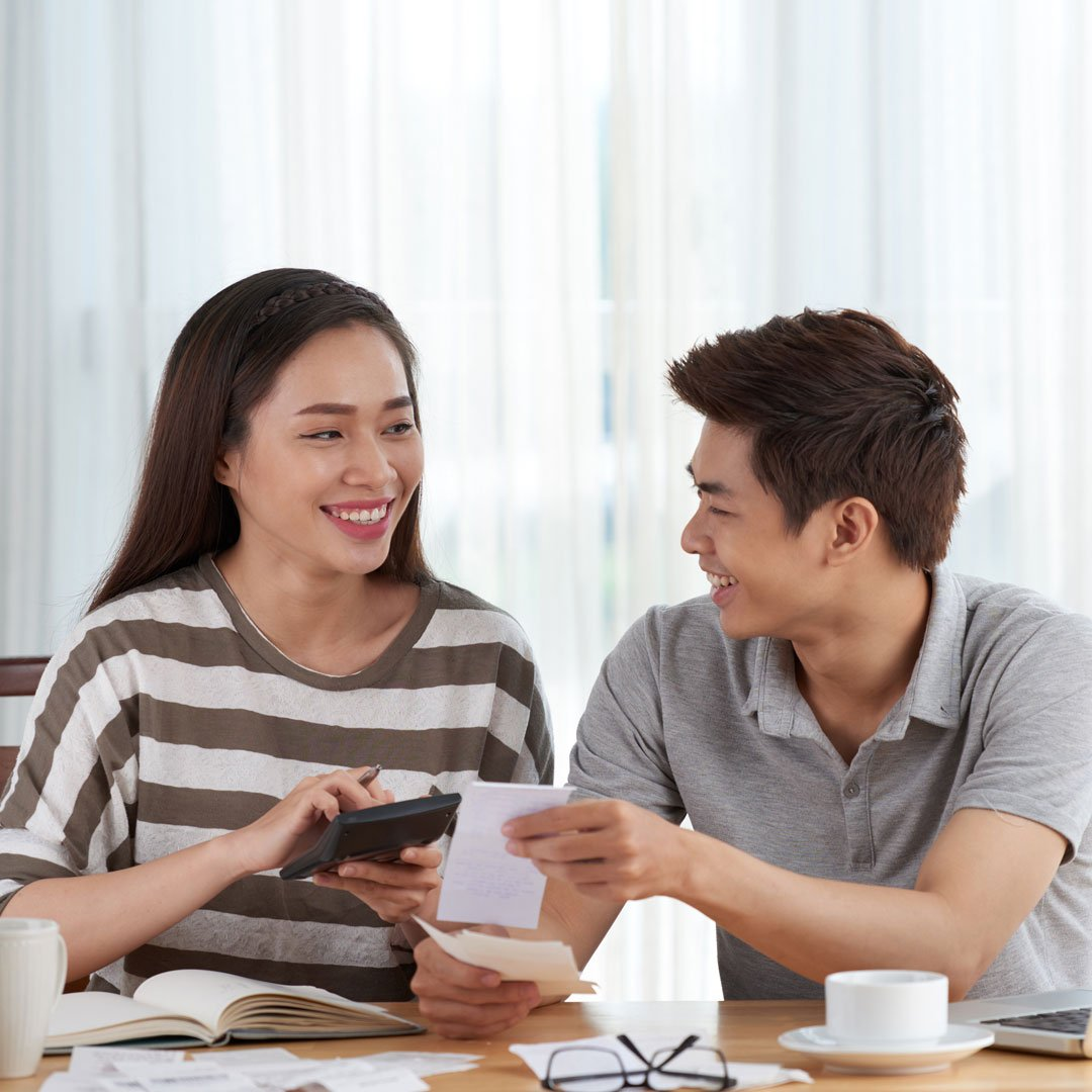 taxact young couple doing taxes